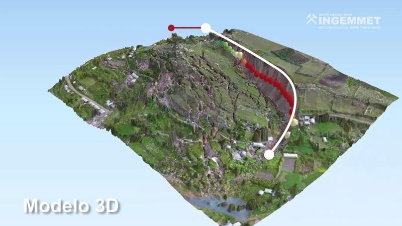 MODELO 3D DEL DESLIZAMIENTO DE LUTTO EN CUSCO