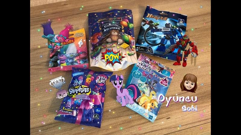 Sürpriz Paketler Açıyoruz! Shopkins Cicibiciler, My Little Pony, Trolls, Ayı Mokko, Armored Heroes