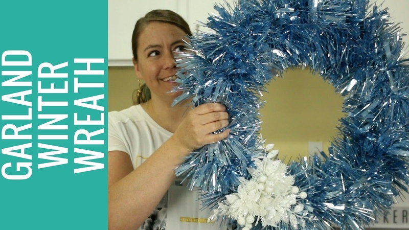 How to Make an Easy Garland Winter Wreath
