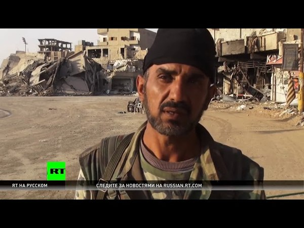 Сирийские бойцы показали видеозапись эвакуации террористов ИГ из Ракки