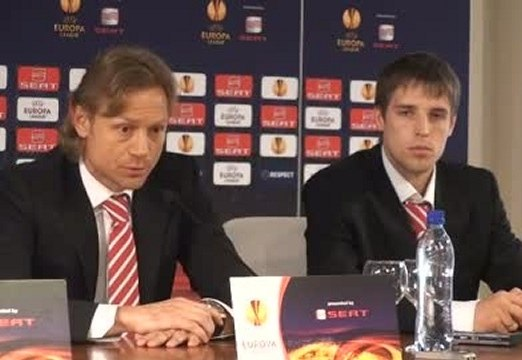 Валерий Карпин и Кирилл Комбаров