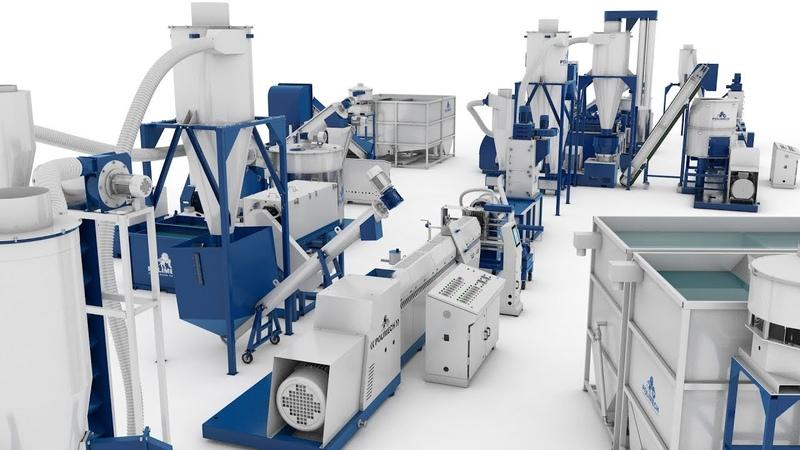 Комплексы переработки пленочного и твердого полимера.