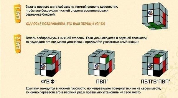 Собираем кубик рубика.