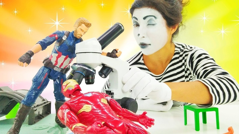 Pretend play in superhero laboratory. Superheroes in real life.