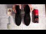 Как восстановить цвет обуви из замши и нубука  Уход за обувью KIWI