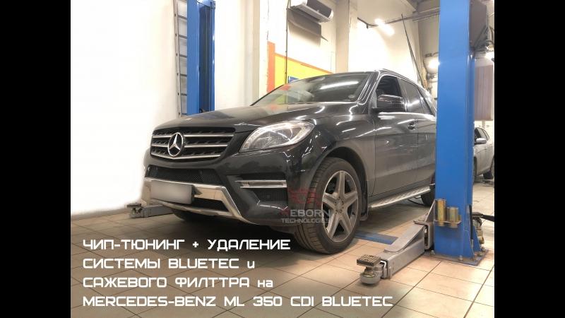 Чип-тюнинг с удалением и отключением саржевого фильтра и системы BlueTEC на Mercedes-Benz ML350 CDI BlueTEC