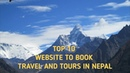 Top 10 website to book travel and tours in Nepal