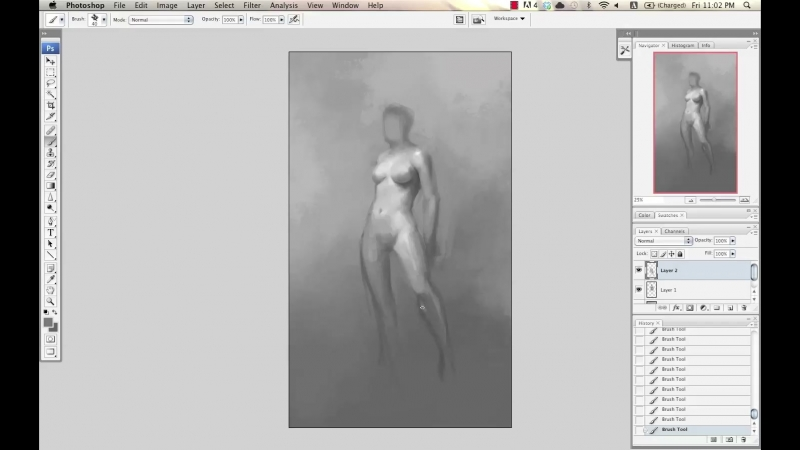 The Art of Daarken (Video Tutorials) - Female and Male Pose - Female Pose Full