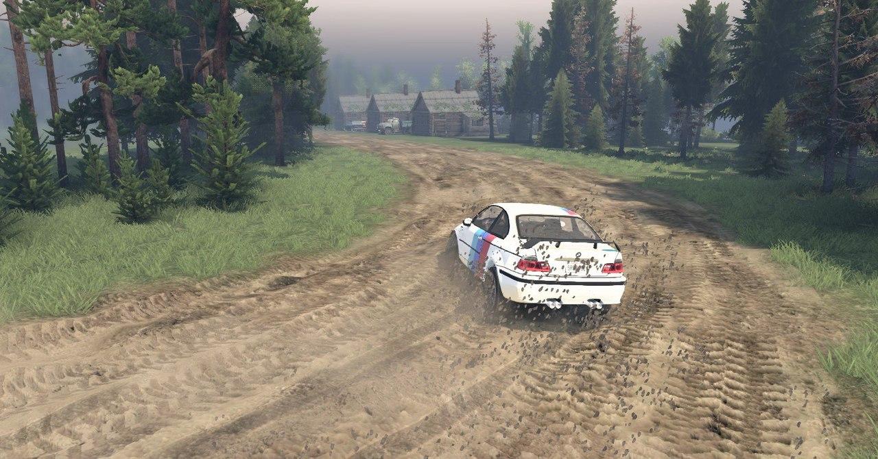 BMW M3 для Spintires - Скриншот 2