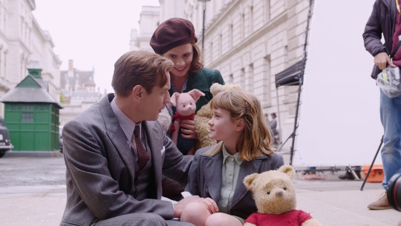 Christopher Robin Behind the Scenes Movie Broll Pooh Tigger