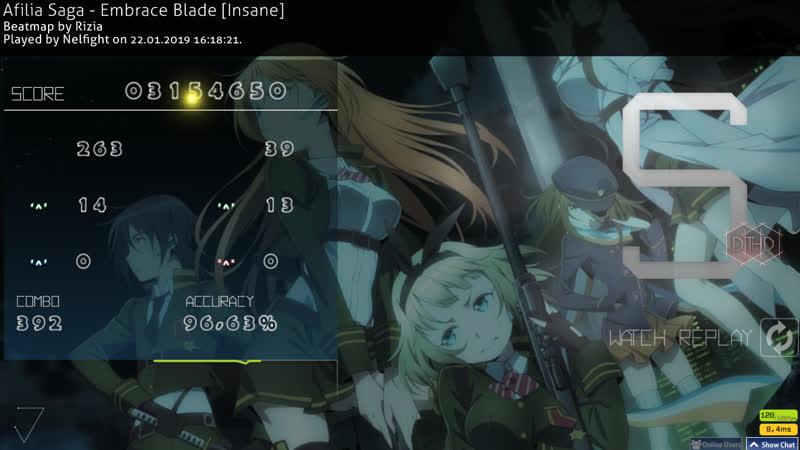 Afilia Saga - Embrace Blade [Insane] HD,DT no CB