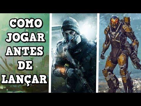 COMO JOGAR OS GAMES ANTES DO LANÇAMENTO DE GRAÇA