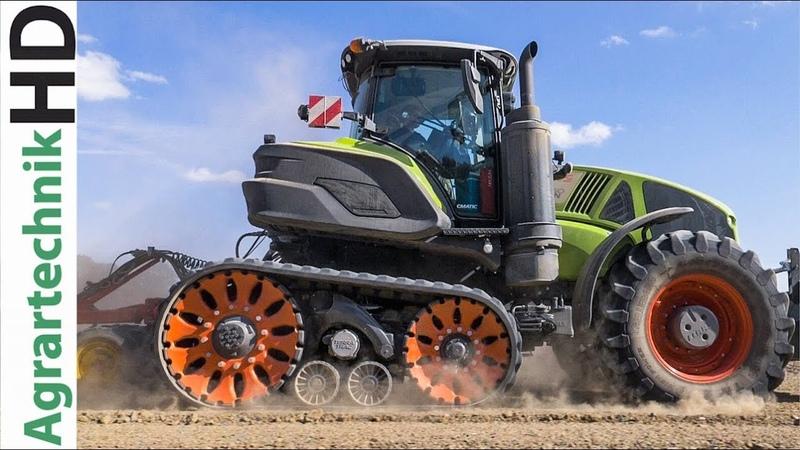 CLAAS AXION TERRA TRAC Traktor m Vaderstad Sämaschine
