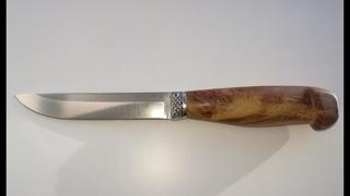 Suomen Puukko, Steel M390 HRC 62, Elm Burl, Stabilized / Нож финский, сталь M390, Кап вяза.