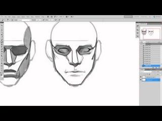 Рисование персонажей (урок #2) | How to draw a male head tutorial RUS