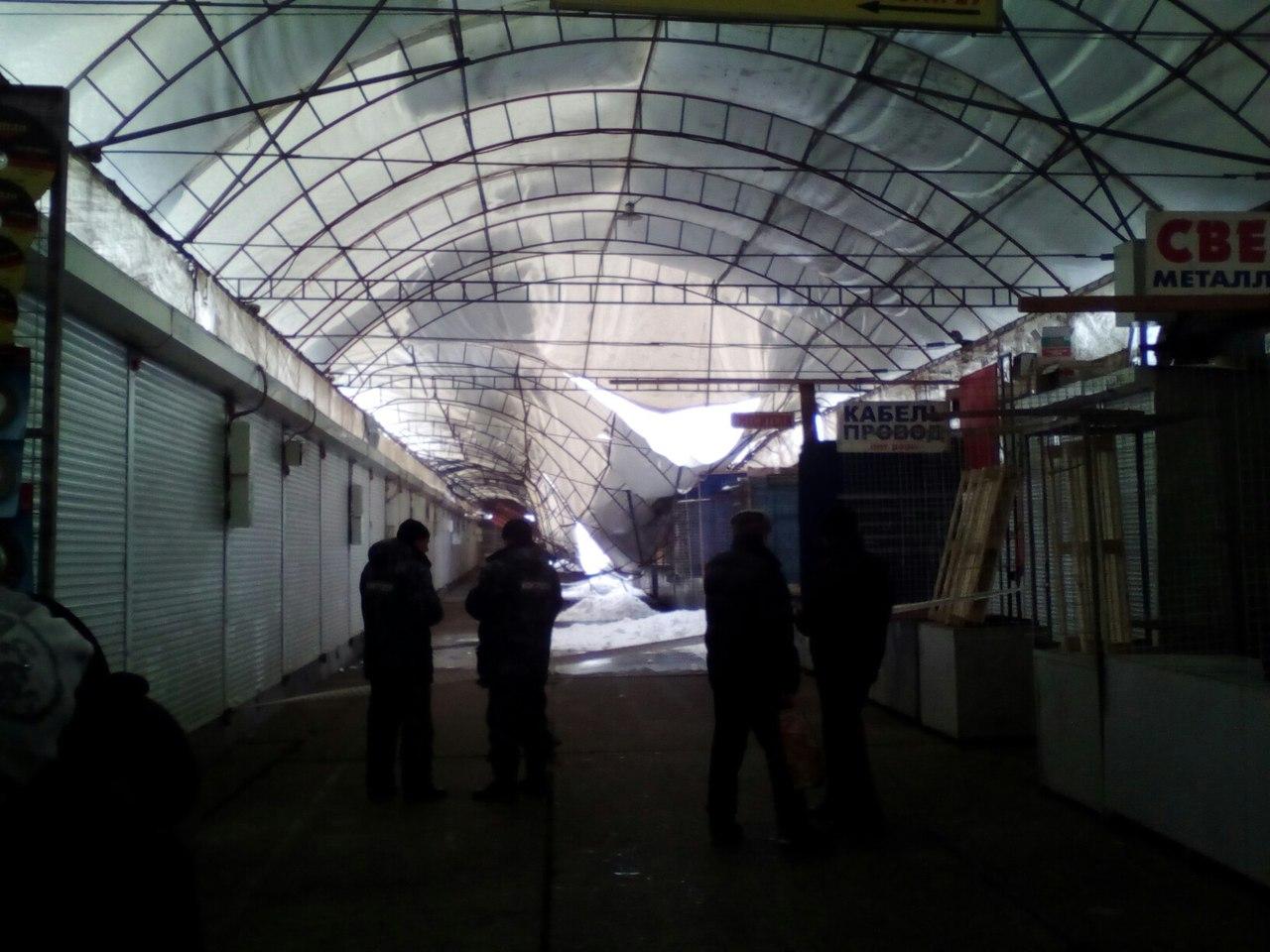 Рынок Барабашово страдает из-за снега