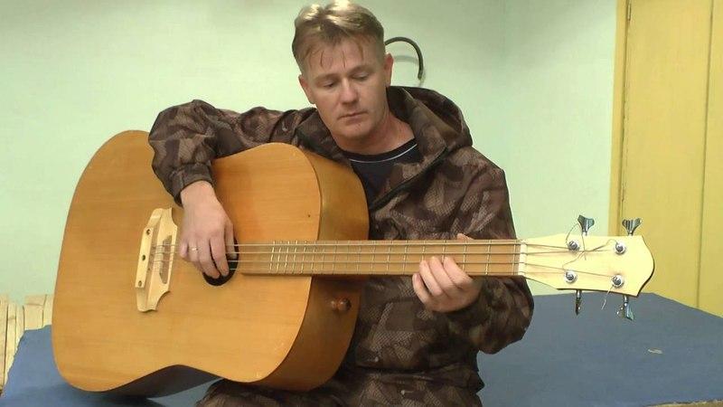 БАС ГИТАРА акустическая. Аcoustic bass guitar handmade