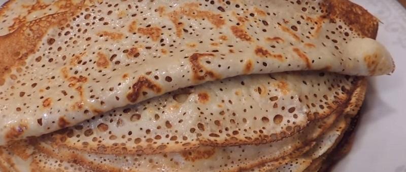 Тонкие блины на кефире с дырочками: пошаговый рецепт с фото