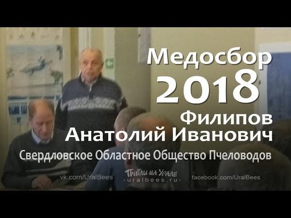 Итоги пчеловодного сезона Медосбор 2018 Общество пчеловодов Еатеринбург Филипов