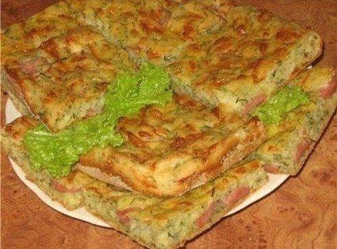 Пирог к завтраку Готовиться за полчаса, а продукты
