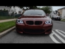 My BMW Indianapolis Red E60 M5 w_ blacked out headlights and Orion V2 AE