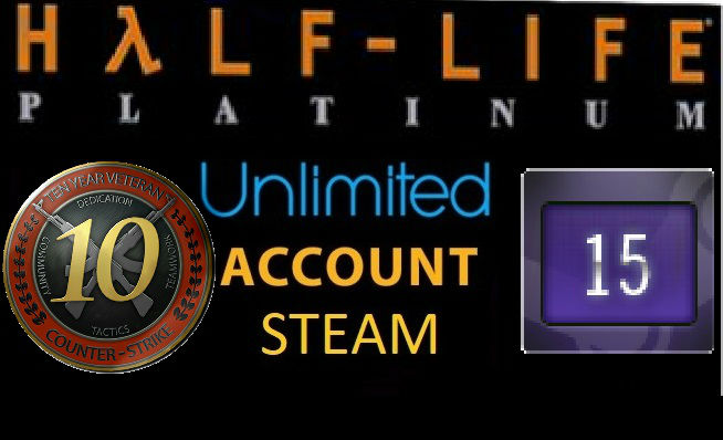 6 dig Unlimited 2003year 15 Years of Service 10LVL + Half-Life Platinum Pack + OE