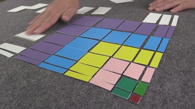 Монтессори-материал «Деканомический квадрат» (№10, МИМП)