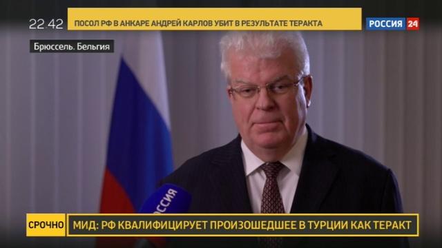 Новости на Россия 24 • Владимир Чижов об убийстве посла: мне трудно было в это поверить