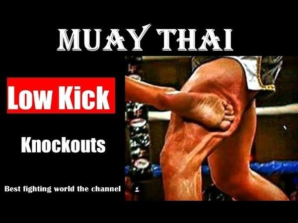 Muay Thai - Low Kick 🚨 Knockouts 🚨