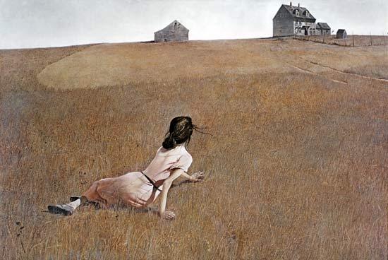 История одного шедевра. «Мир Кристины», Эндрю Уайет 1948г. Доска, темпера. Размер: 82 х 121 см.Музей современного искусства в Нью-Йорке, США.Картина американского художника-реалиста, одного из