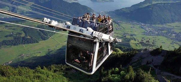 Кабриолет — первый в мире двухэтажный фуникулер в Швейцарии
