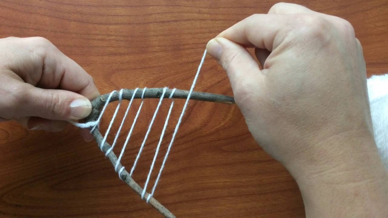 Creating A 'Y' Stick Loom
