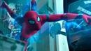 Человек паук дерется с Мстителями в банке. Момент из фильма Человек паук Возвращение домой