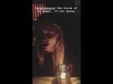 Dianna Agron the voice of an angel, if not Satan - via Rob Fishman InstagramStories DiannaAgron singer QuinnFabray gleecast @Dia