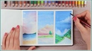 How to Paint with Watercolor Pencils - Painting Ideas for Beginners Art Journal Thursday Ep. 40