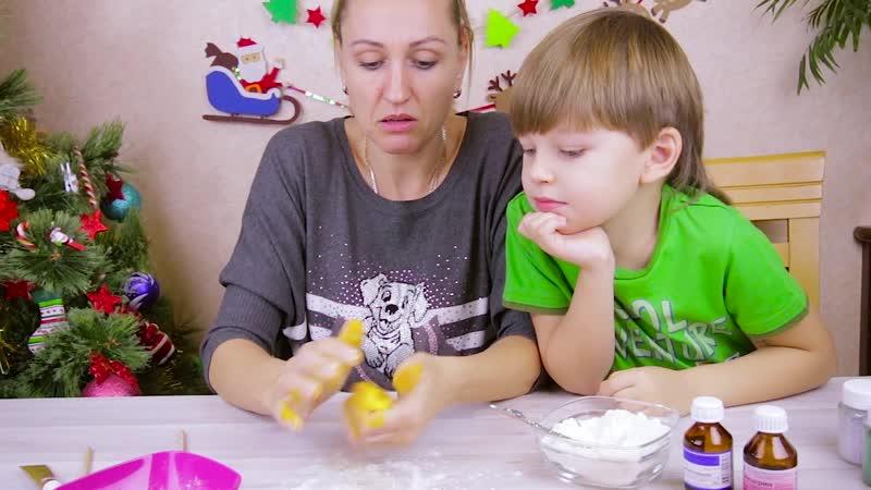 как сделать флаффи слайм из зубной пасты лизун своими руками
