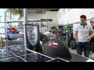 В Петербурге испытывают первый в России солнцемобиль