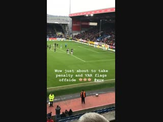 Trust var to go against us... just as vydra is about to step up and smash it home