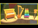 Music concert with clever cars. Cartoons for kids.