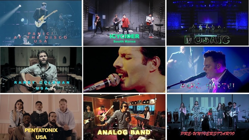 The whole world sings the Bohemian rhapsody Queen. Video editing Alexandr Travin