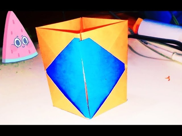Paper Pen Holder within Two Minutes  Easiest Pen Holder Tutorial   Origami DIY