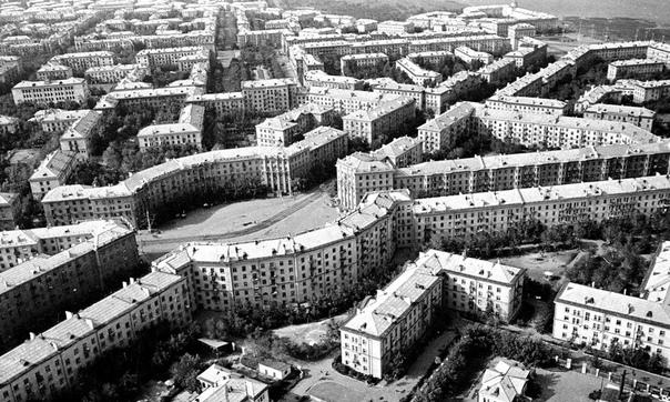 Магнитогорск с высоты птичьего полёта.СССР, 1966 год.