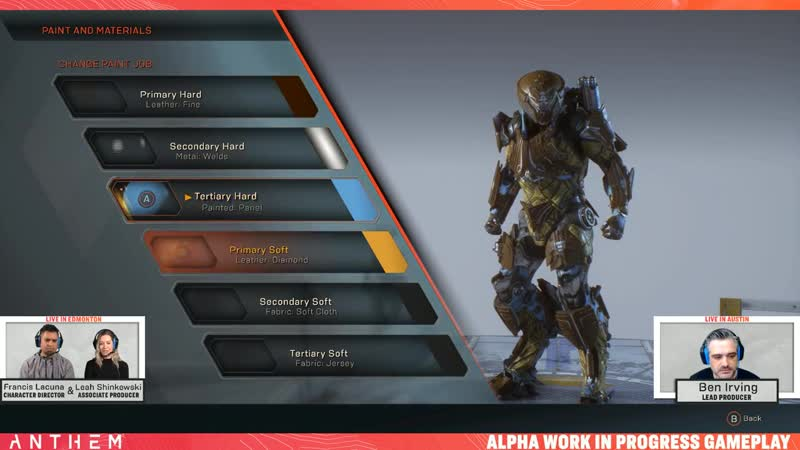 Anthem — Javelin Customization First Look (Official Stream Record)