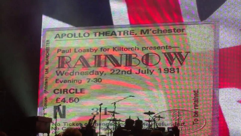 Ritchie Blackmore's Rainbow Land of Hope and Glory London Full Concert O2 Arena 06-17-2017