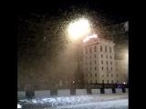 У жителей Витебска ночью на мгновенье появилось новогоднее настроение, но потом оказалось, что это не снежная буря, а мотылькова