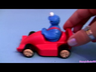 Cookie Monster Racing Lightning McQueen Disney Cars Diecast Elmo Pixar car toys