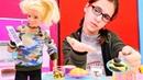Barbie oyunları Barbie alışverişe dalıyor yemeği unutuyor