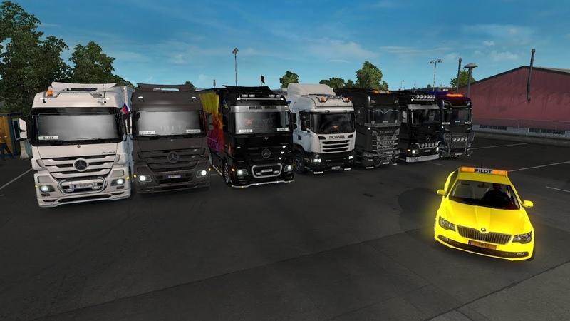 Стрим 180 по Euro Truck Simulator 2 Multiplayer Mercedes DLC Krone