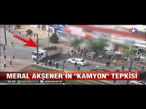 Meral Akşener Gaziantep'de konvoyunun önü kamyonla kesilince çileden çıktı