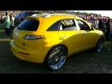 Yellow w Green Pearl Infiniti FX35 on 26